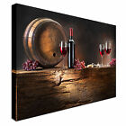 Wine and barrel on old wood Canvas Art Cheap Wall Print Home Interior