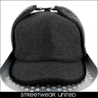 Streetwear Specials Army Military Dog Ears Winter Peak Cap Hat Charcoal