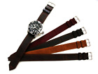 16mm NATO Liberator Military WWll leather Vintage army watchband strap IW SUISSE