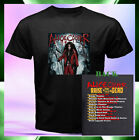 Alice Cooper Raise The Dead Tour Date 2015 2 Sides Men Black T-Shirt S to 3XL