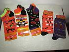 Halloween Socks Low Cut and Crew Style Owls Witches and Pumpkins YOUR CHOICE!