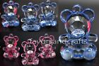 Внешний вид - 18 PCS Baby Shower Favors Teddy Bear Charms Blue Pink Party Decorations Girl Boy