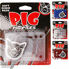 "PIG ""Piles"" Skateboard 1/8"" Soft Riser Shock Pads Longboard Clear Blue Red PAIR"