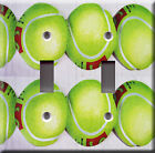 Light Switch Plate Cover - Tennis balls court - Sport equipment tournament duel