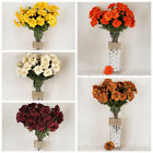 4 bushes Silk ZINNIA Artificial Wedding Crafts Flowers Centerpieces Arrangements