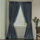 NEW JCP HOME SUPREME PINCH PLEAT THERMAL LINED PANEL PAIR DARK SLATE 100 X 63