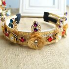 Crystal Flower Baroque Hair Band Headpiece Wedding Party Prom Hair Accessories C