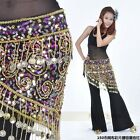 Belly Dance Sequins Coins Beads Hip Scarf / Belt 4 Colors