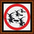 WITCH CROSSING  -14 COUNT CROSS STITCH CHART PDF/PRINTED  FREE PP WORLDWIDE