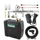 OPHIR 12V DC Grey Mini Air Compressor 0.2mm 0.3mm 0.5mm Airbrush Kit for Makeup