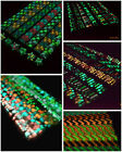 Double colored Glow in Dark Lucky Star Origami Folding Plastic Strip Paper