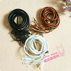WOMEN'S FAUX LEATHER SKINNY FRINGE TASSEL WAIST LONG BELT BAND NEW 3 COLORS