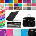 For Macbook Air Pro Retina Rubberized Hard Case+Neoprene Sleeve+Keyboard Cover