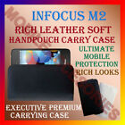 RICH LEATHER SOFT CASE for INFOCUS M2 MOBILE HANDPOUCH COVER POUCH HOLDER LATEST