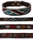 NEW KILIM GENUINE LEATHER DOG COLLAR PET HAND MADE IN MOROCCO FAIR TRADE UNIQUE
