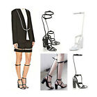 Womens T-Strap Hollow Knee High Boots High Heels Sandals Gladiator Shoes UK7.5