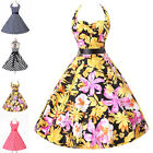 Gala Grad HOT Hawaii Vintage Style 1950s 60S Retro Rockabilly Prom Evening Dress