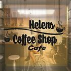 PERSONALISED COFFEE SHOP CAFE WINDOW SHOP FRONT VINYL STICKER DECAL WALL ART