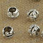 DIY Jewelry Findings Tibetan Silver 7x9mm Hole 5.5mm Round Beads ZN-62372