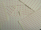 Red on White Price Promotional Point of Sale Stickers Self-Adhesive 220 Labels