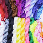 1/2mm Nylon Cord Thread Chinese Knot Macrame Rattail Bracelet Braided String