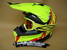 New 2015 X8  Lazer Helmet/Smith Goggles  Fluo Yellow  S M L XL Motocross Enduro