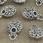 DIY Jewelry Findings Tibetan Silver 23mm Hole 3mm Round Pendant Beads AD-45624