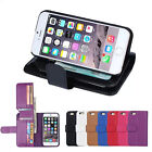 """Luxury 7 Card slot Leather Wallet Case Flip Cover For Iphone 6 4.7""""& 6 Plus 5.5"""""""