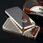 NEW Hot Luxury Ultra-thin Mirror Clear TPU Bumpe Case Cover For iPhone 5 5S