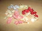 100 pack Small Mulberry Flowers With Stems 16mm Various Colours
