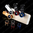 3in1 Universal Clip Fisheye + Wide Angle + Macro Lens For Cell phone Mobile Note