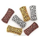 Tibetan Silver Hollow Carved 3-Hole 5Pcs/20Pcs Spacer Beads Bar Charms Pendants