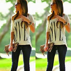 New Sexy Ladies Casual Personalized Short Sleeve One Shoulder Tops Shirt Blouse