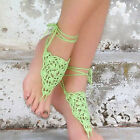 Sexy Womens Handmade Crochet Foot Toe Ring Barefoot Sandal Beach Party Anklets C