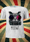 Check Meowt Space Glasses Cat Kitty Funny T-shirt Vest Top Men Women Unisex 1915
