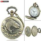 Bronze Animal Antique Quartz Pocket WatchNecklace Chain Men Women Gift Pendant