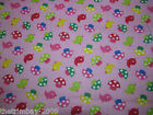 Fun Tweety Birds - Polka Dots-Flower Spring Polycotton Fabric Dress Craft Fabric