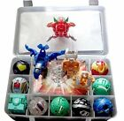 9 Bakugan Toy All Different + 9 Metal Cards with Bakucase for great Gift and