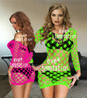 hot Sexy Fishnet Bodystocking Bodysuit Lingerie Babydoll garters Underwear dress