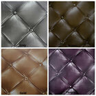 Luxury Vintage Retro Chesterfield Faux Leather 3D Headboard Effect Wallpaper