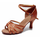 Women Girl lady's Ballroom Tango Latin Dance Dancing Shoes heeled Salsa 11 Color
