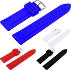 20mm 22mm 24mm Silicon Rubber Waterproof Divers Watch Strap Band Size Y