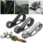 3PCS Useful Stainless Steel Split Keychain Key Ring Clasps Clips Hook Carabiner