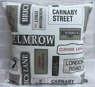 "London Street Signs cushion cover 14"" 16"" 18"" 20"" 22"" 24"""