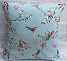 "Clarke and Clarke Vintage Garden Beautiful Birds cushion cover 14"" 16"" 18 inch"