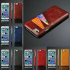 """Luxury PU Leather Hard  PC Back Case with Card Slots for iPhone 6 4.7"""""""