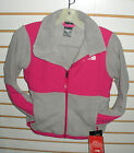 The North Face Girls Denali Fleece Jacket-# Aqgg -s, L- M Silver / Pink-new