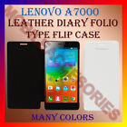 LEATHER DIARY FOLIO FLIP CASE COVER for LENOVO A7000 MOBILE FRONT & BACK FLAP
