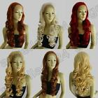 Light Ash Lace Front Hair Heat Resistant 28 in. Long Wigs 70cm Curly 237GS