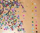 Approx 200 Acrylic Rhinestones Flat Back Gems 4mm Various Colours